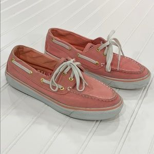 SPERRY Top-Sider Pink Canvas Sneakers